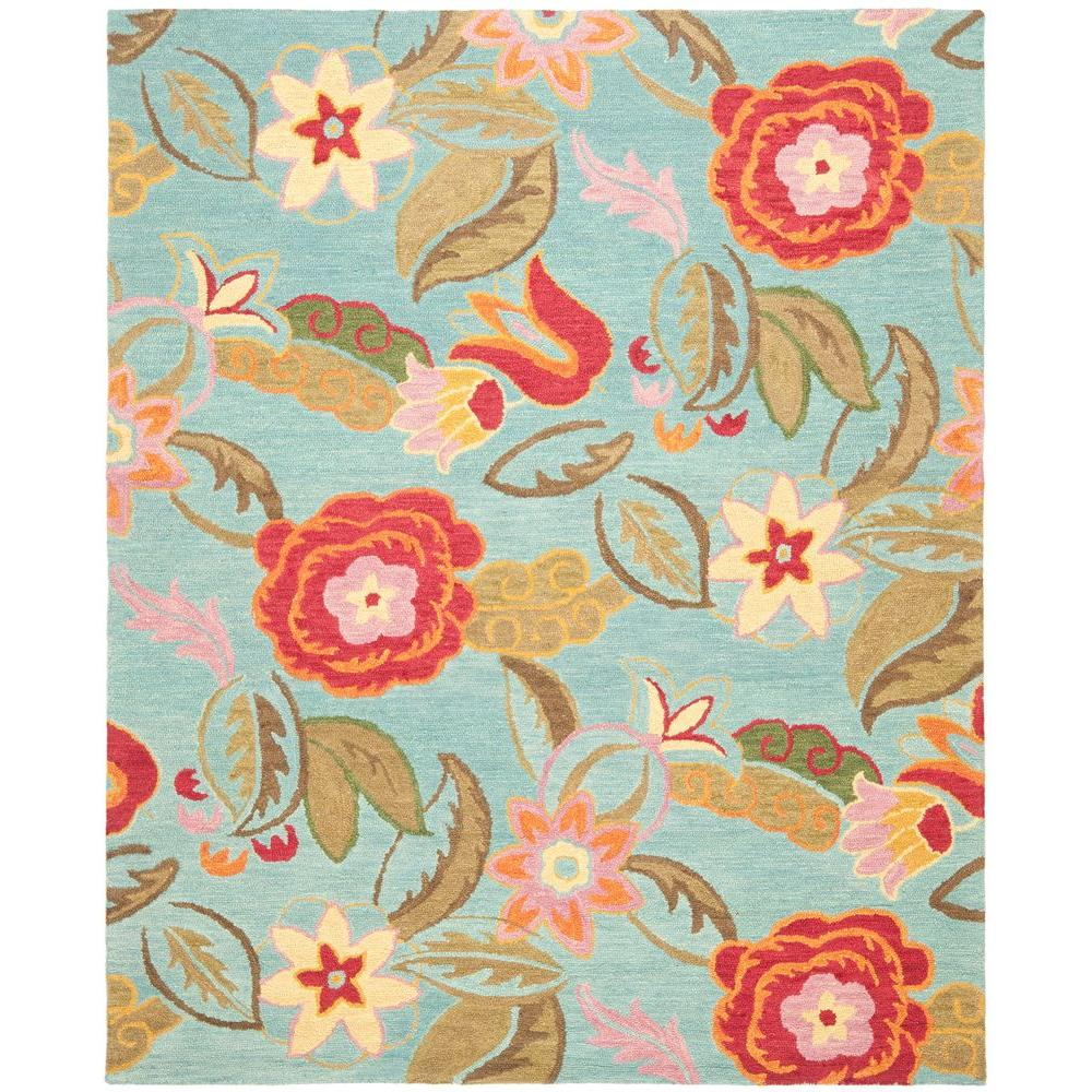 Blossom Blue/Multi 8 ft. 9 in. x 12 ft. Area Rug