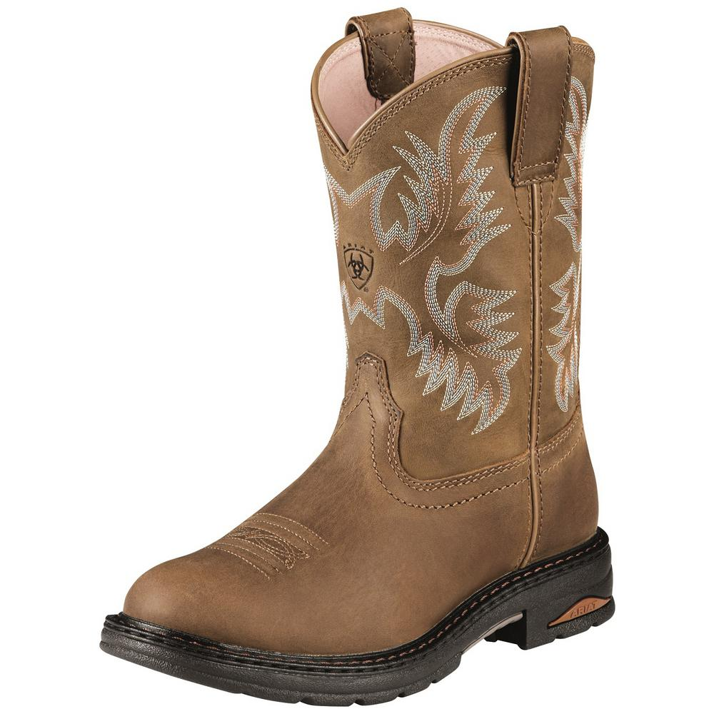 Ariat Women\u0027s Size 6B Dusted Brown Tracey Pull on Composite Toe Work Boot
