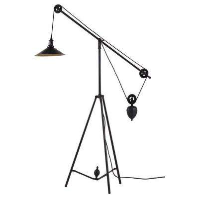 Jasper 47.6 in. Antique Black Gold Floor Lamp