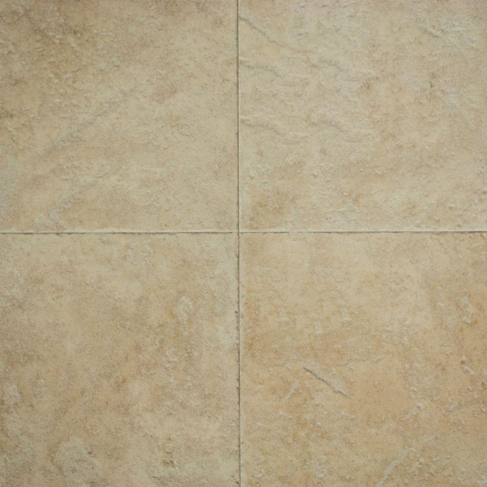 Hampton Bay Ivory Porcelain 10 mm Thick x 15-1/2 in. Wide x 46-2/5 in. Length Click Lock Laminate Flooring (20.01 sq. ft./Carton)