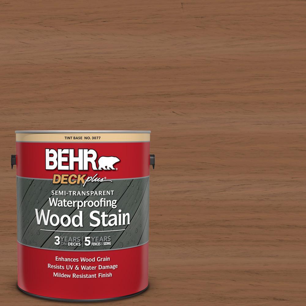 BEHR DECKplus 1 gal. #ST-152 Red Cedar Semi-Transparent Waterproofing Exterior Wood Stain