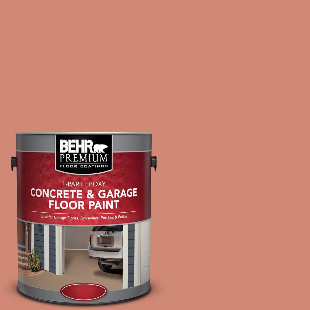 1 gal. #M190-5 Fireplace Glow 1-Part Epoxy Satin Interior/Exterior Concrete and Garage Floor Paint