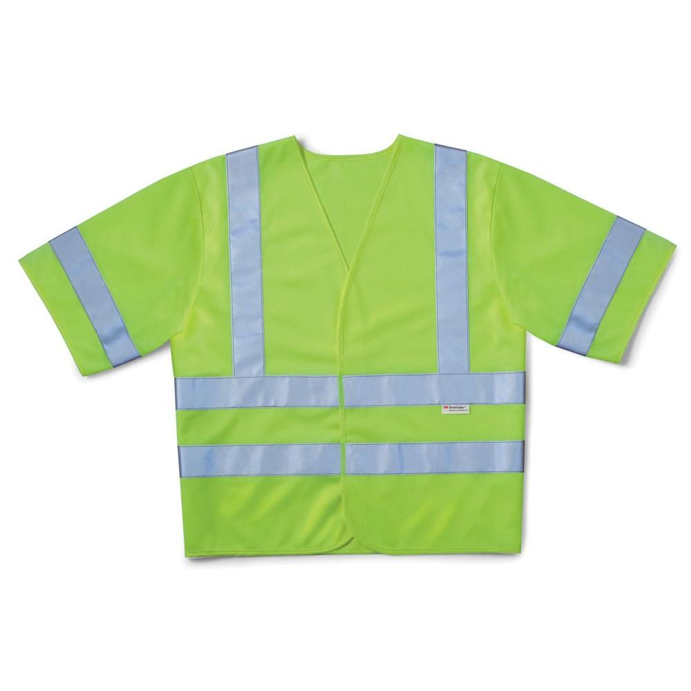 3M High-Visibility Yellow Class 3 Short Sleeve Safety Vest