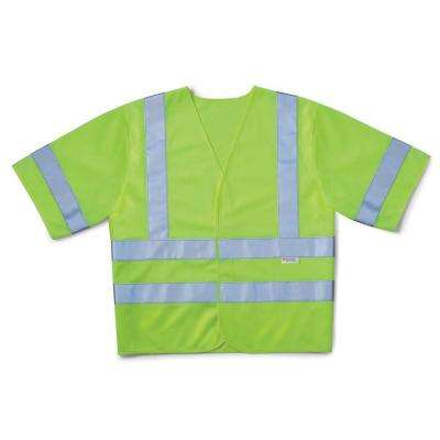 High-Visibility Yellow Class 3 Short Sleeve Safety Vest