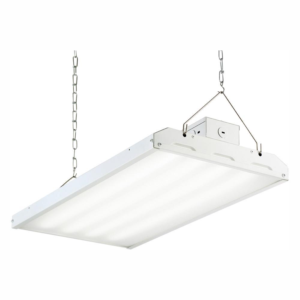 Envirolite 110 Watt 2 Ft White Integrated Led Backlit High Bay Hanging Light With 14 410 Lumens