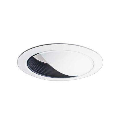 6 in. Black Recessed Ceiling Light Wall Wash Baffle and White Trim