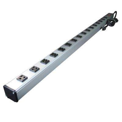15 ft. 16-Outlet Industrial Power Strip with Lighted On/Off Switch