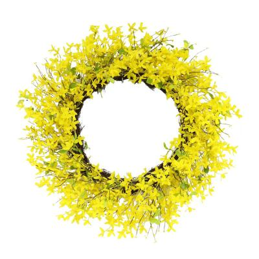 30 in. Artificial Yellow Jasmine Wreath