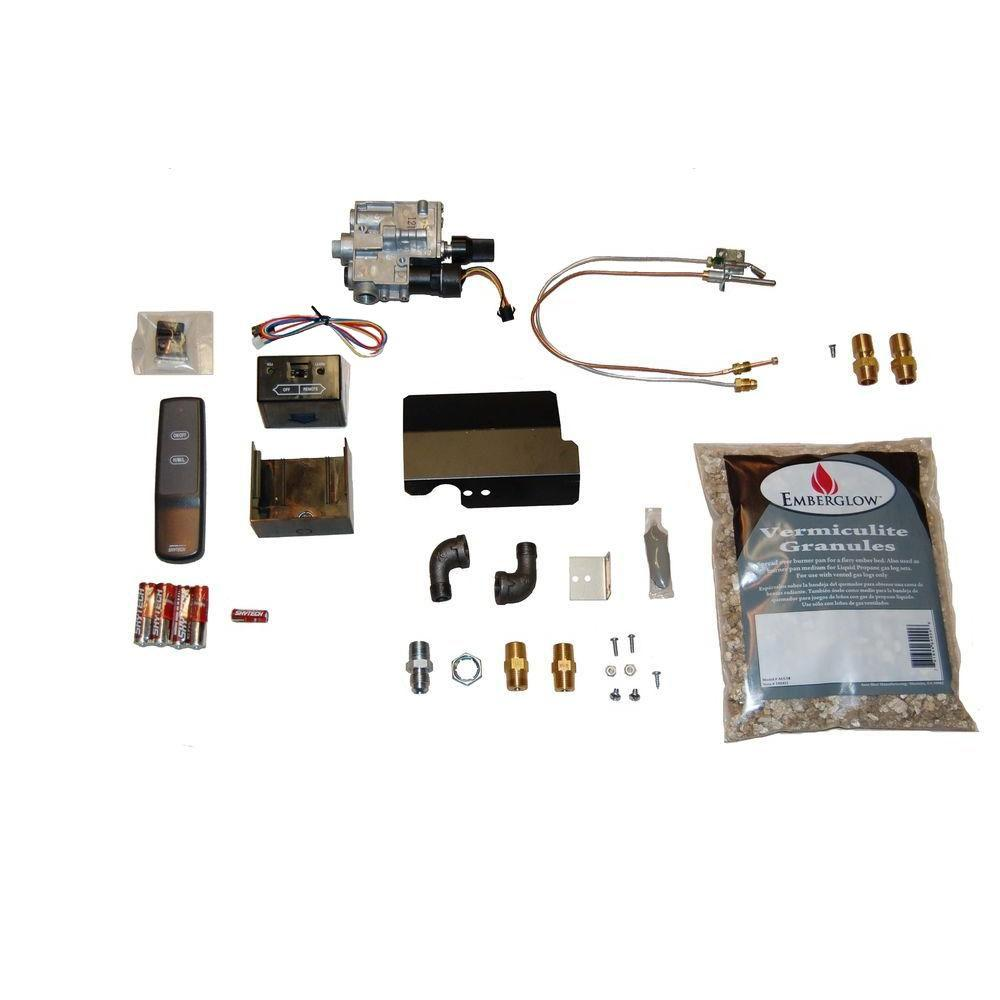 emberglow remote controlled safety pilot kit for vented gas logs