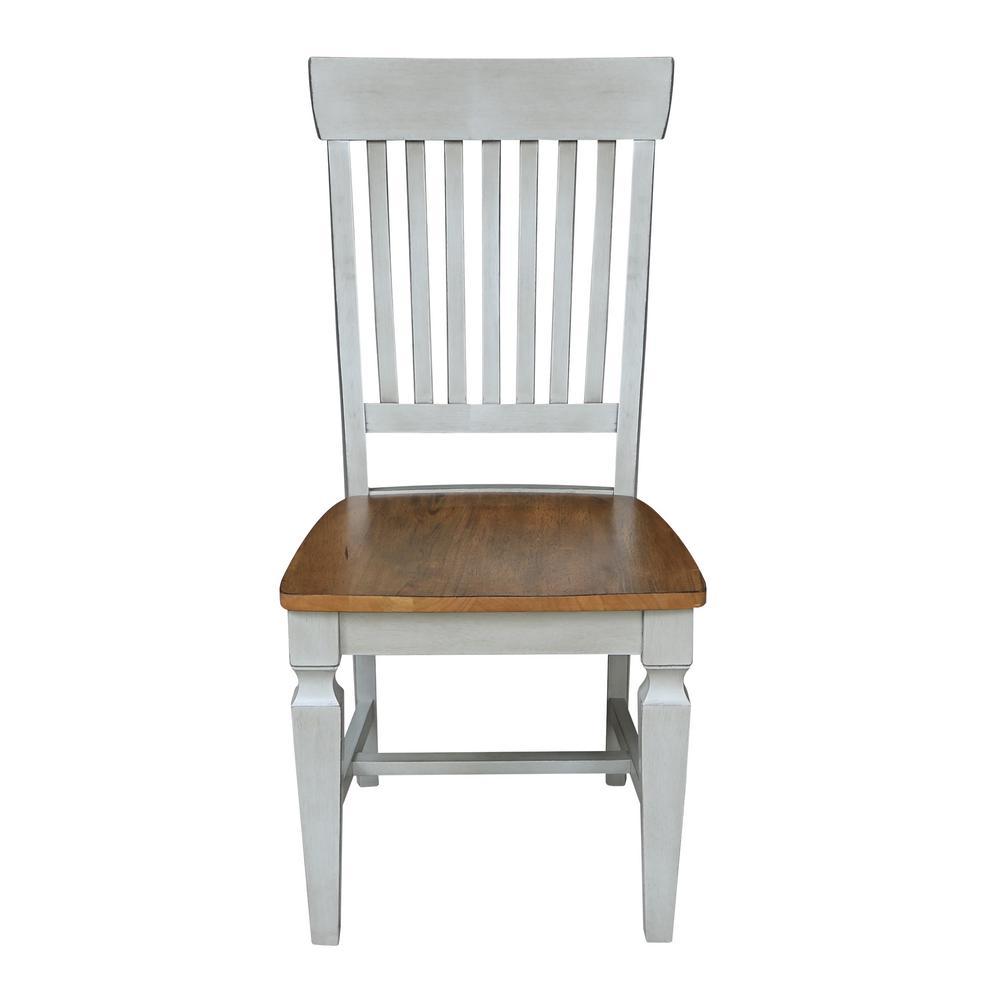 Hickory / Stone Vista Slat Back Dining Chair (Set of 2)