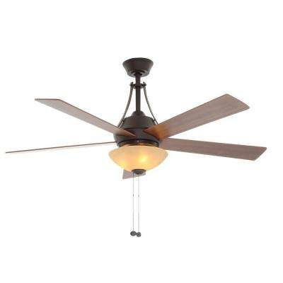Everbilt 54 in. Indoor Oil-Rubbed Bronze Ceiling Fan with Light Kit