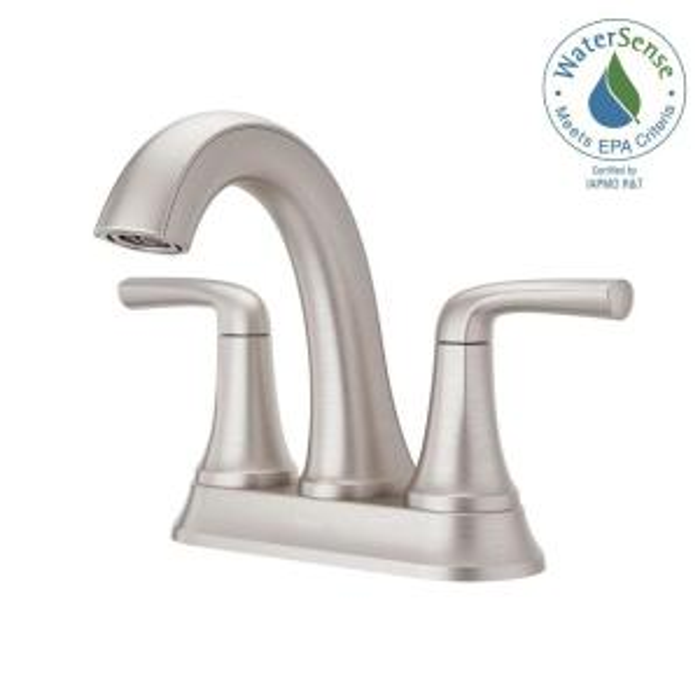 Kohler Elmbrook 4 In Centerset 2 Handle Bathroom Faucet In Brushed
