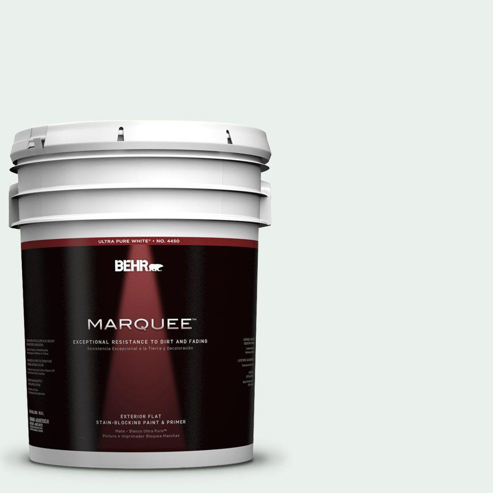 BEHR MARQUEE 5-gal. #470E-1 Breakwater White Flat Exterior Paint