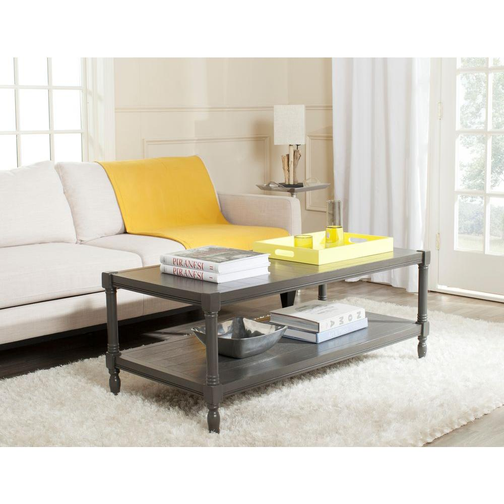 Safavieh Bela Grey Storage Coffee Table AMH5734A The Home Depot