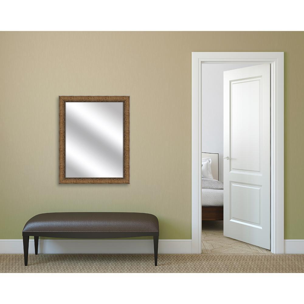 Medium Rectangle Dark Gold Art Deco Mirror (31.75 in. H x 25.75 in. W)