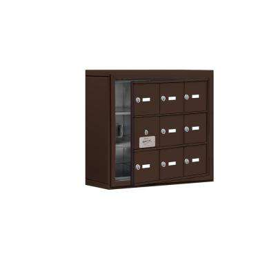 19100 Series 24 in. W x 20 in. H x 6.25 in. D 8 Doors Cell Phone Locker S-Mount Keyed Locks in Bronze