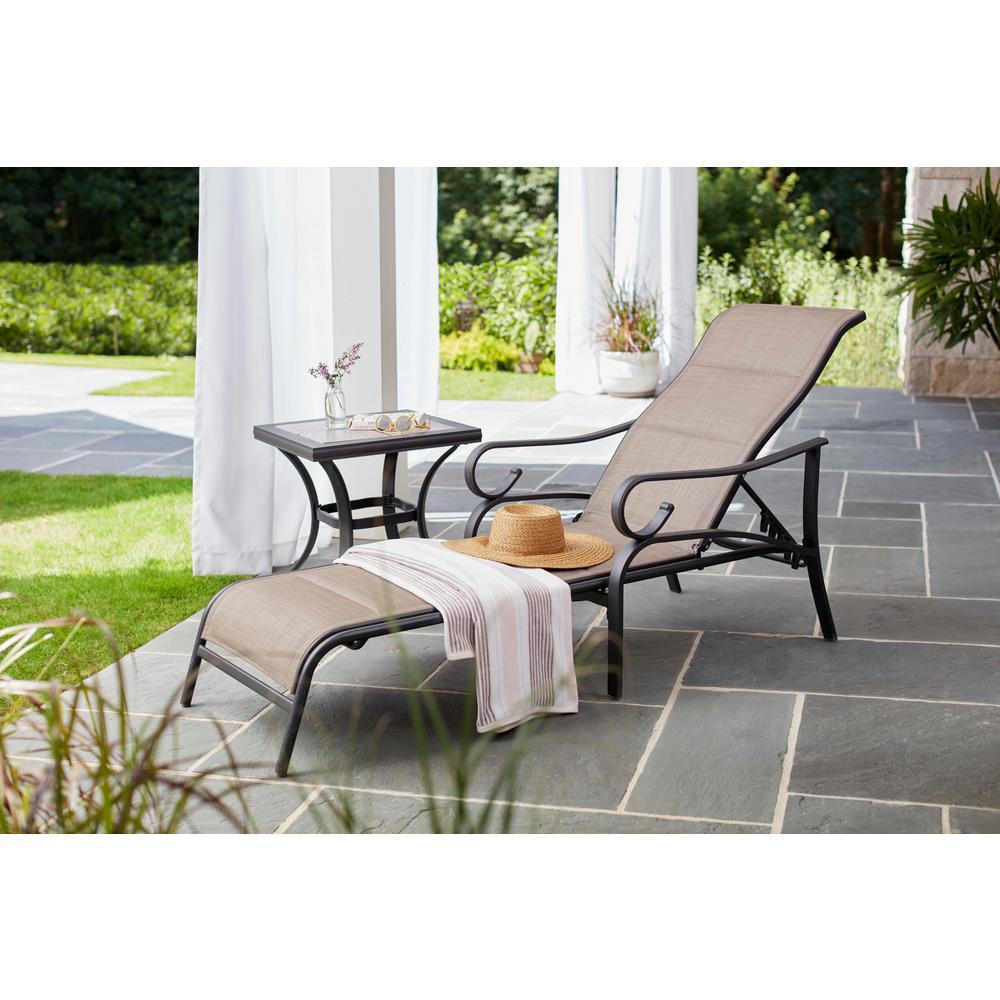 Hampton Bay Crestridge Steel Outdoor Patio Side Table With Tile