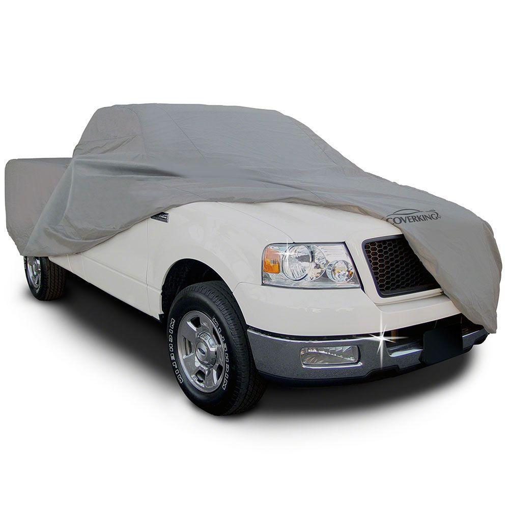 Gray Coverking UVCTMSSI98 Universal Fit Car Cover for Mini Truck with Short Bed Standard Cab Triguard Light Weather Outdoor