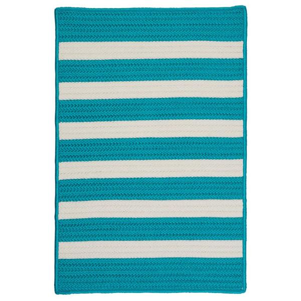 Baxter Turquoise 3 ft. x 5 ft. Braided Indoor/Outdoor Area Rug