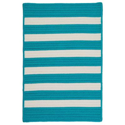 Baxter Turquoise 12 ft. x 15 ft. Braided Indoor/Outdoor Area Rug