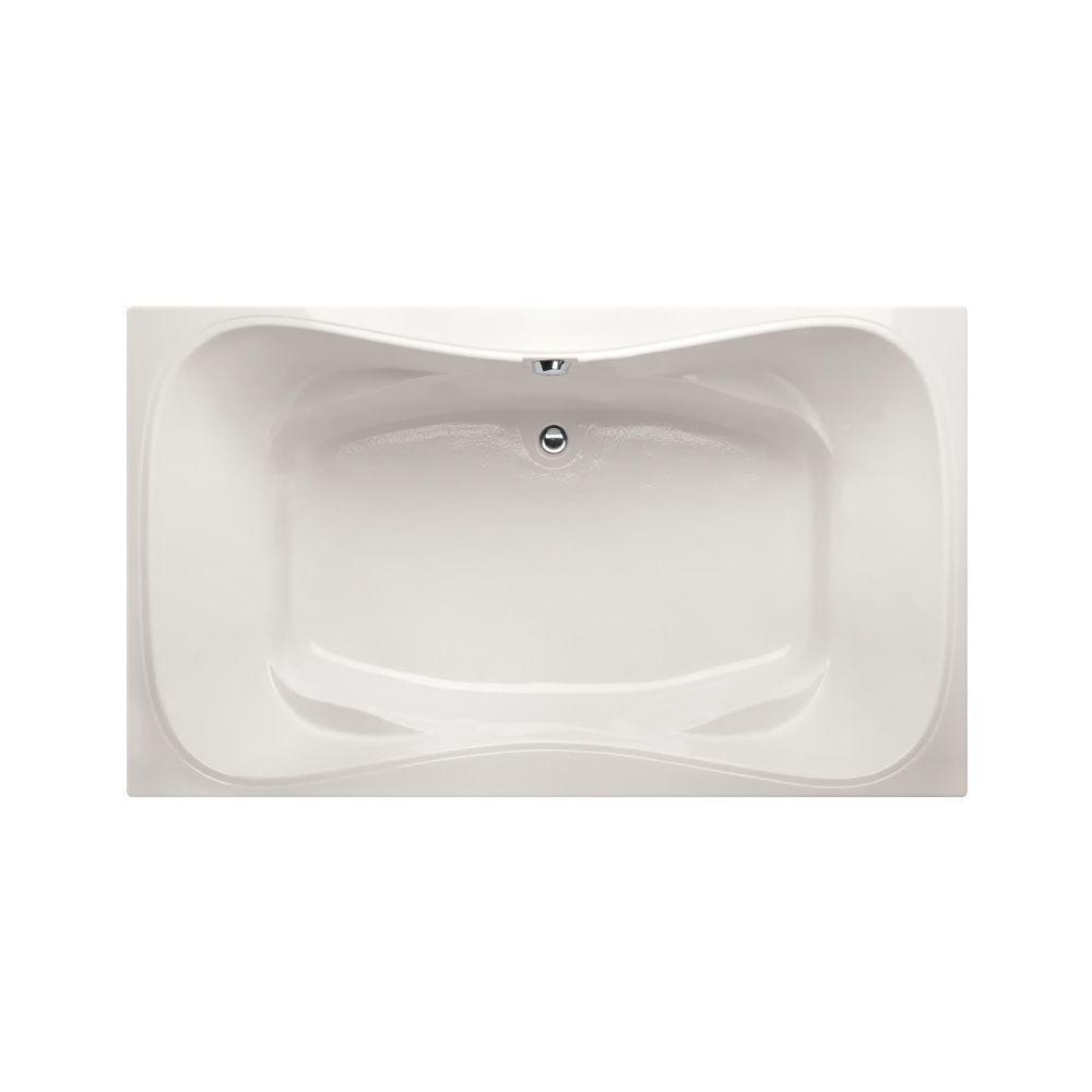 Providence 6 ft. Reversible Drain Air Bath Tub in White