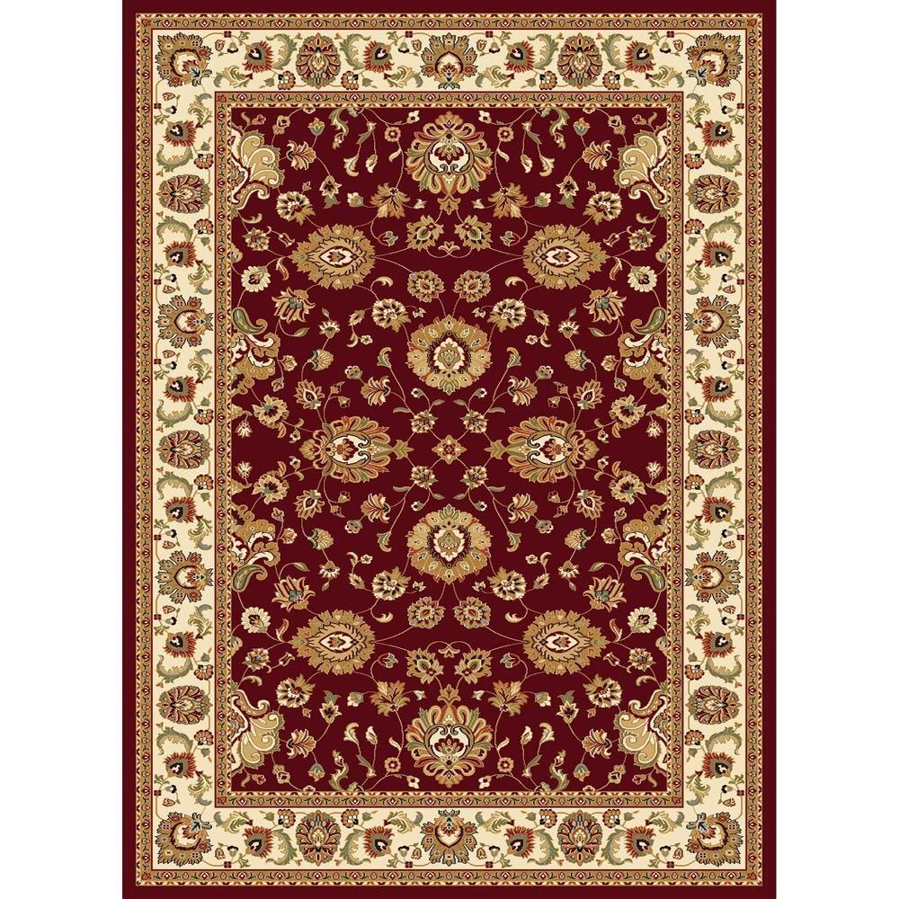 Concord Global Trading Williams Collection Sultan Red 5 ft. 3 in. x 7 ft. 3 in. Area Rug