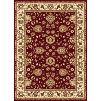 Williams Collection Sultan Red 7 ft. 10 in. x 10 ft. 10 in. Area Rug