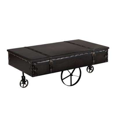 Vintage Cart Antique Black Coffee Table