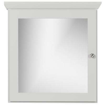 24 in. W x 27 in. H x 6.5 in. D Single Door Surface-Mount Medicine Cabinet Square/Mirror in Dewy Morning