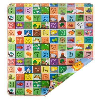 Giant Learning Reversible Playmat for Babies and Toddlers