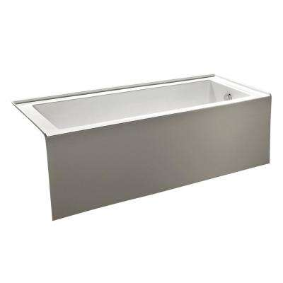 60 in. Nova Alcove Acrylic Flatbottom Non-Whirlpool Bathtub in White