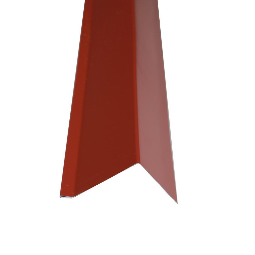 2-5/6 in. x 10.5 ft. Red Steel Rake Trim Drip Edge
