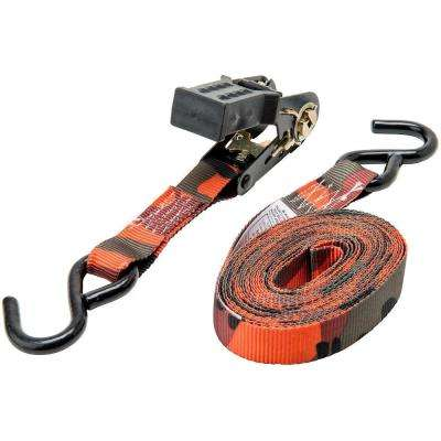 1 in. x 16 ft. Blaze Camo Ratchet Tie-Down