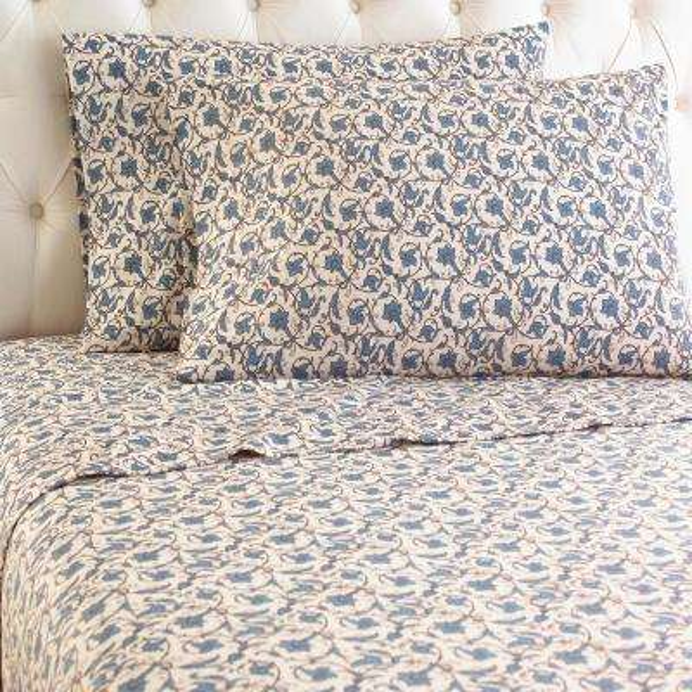 4-Piece Jacobean King Polyester Sheet Set