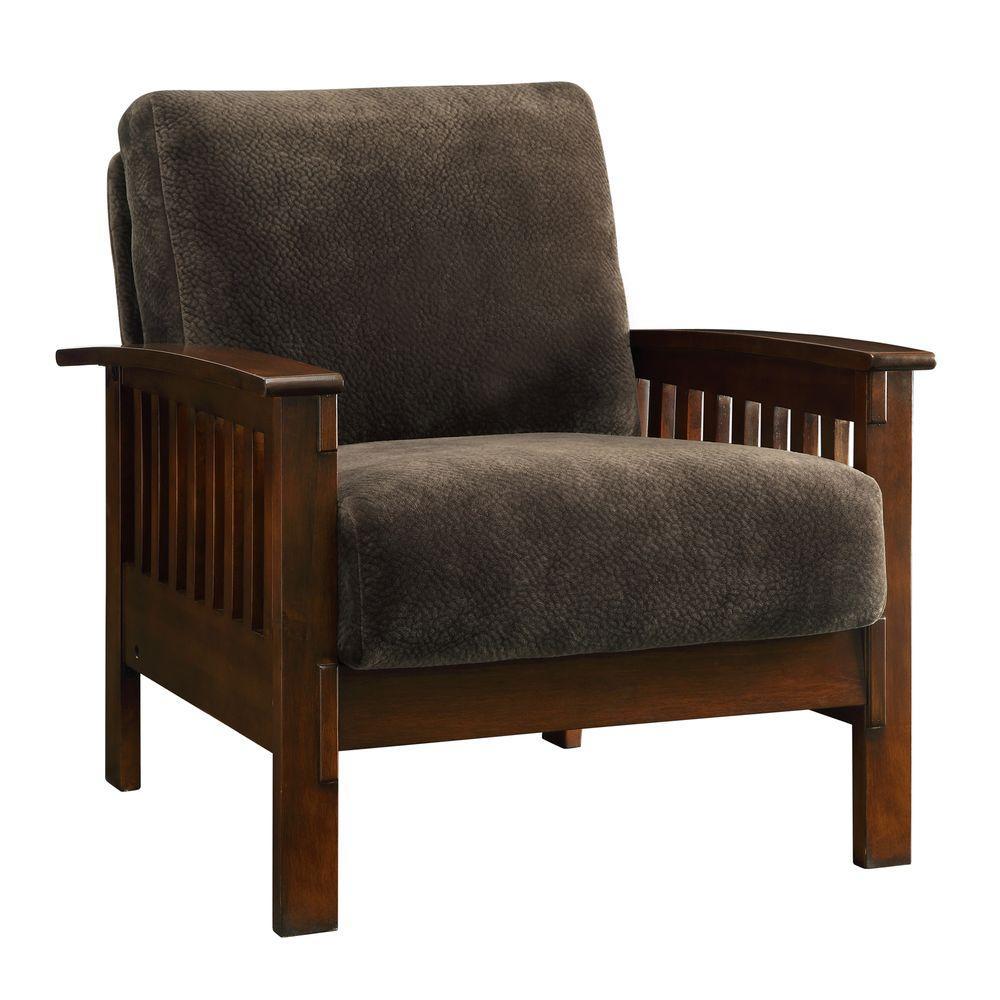 Superb HomeSullivan Preston Dark Brown Oak Arm Chair