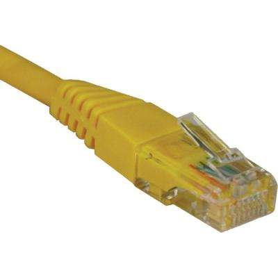 5 ft. Cat5e / Cat5 350MHz Molded Patch Cable RJ45M/M, Yellow