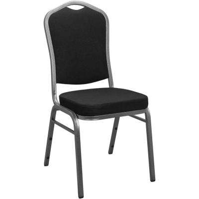Black Fabric Crown Back Banquet Chair Set Of 25