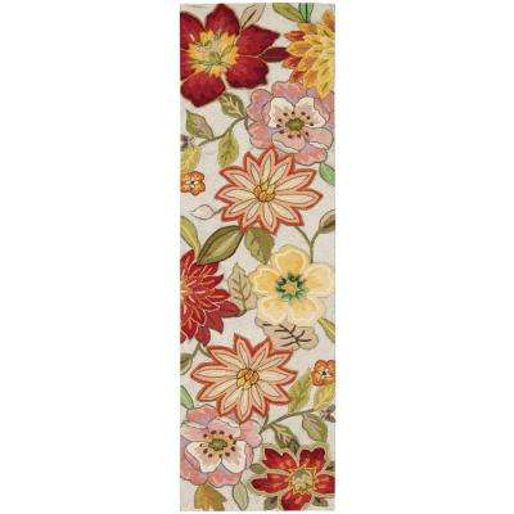 Spring Blossom Ivory 2 ft. x 8 ft. Runner Rug