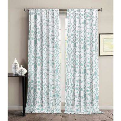 Dawn Blue Mist Pole Top Panel Pair - 37 in. W x 84 in. L (2-Piece)