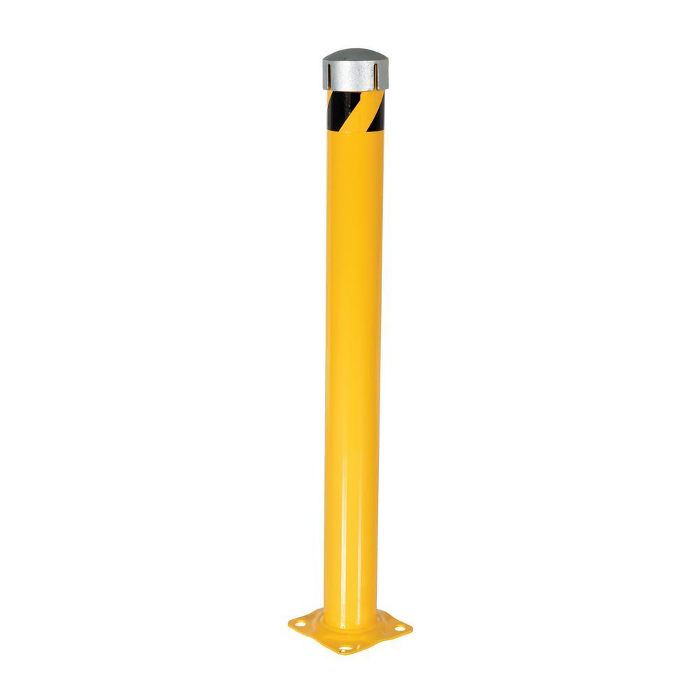 Vestil 48 in. x 4.5 in. Yellow Steel Pipe Safety Bollard ...