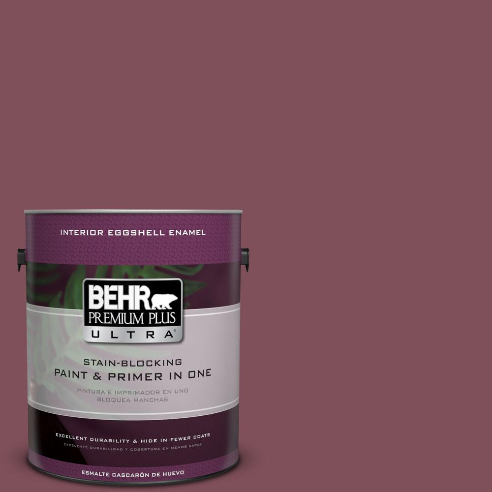 BEHR Premium Plus Ultra Home Decorators Collection 1-gal. #HDC-CL-02 Fine Burgundy Eggshell Enamel Interior Paint