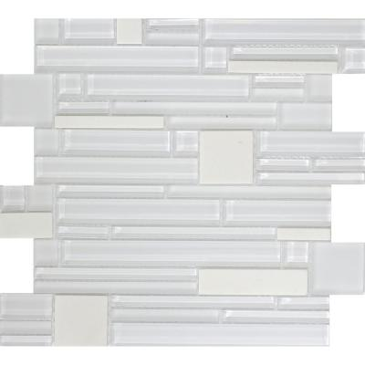 Entity Energy Glossy 11.81 in. x 11.81 in. x 8mm Glass Mesh-Mounted Mosaic Tile (0.97 sq. ft.)