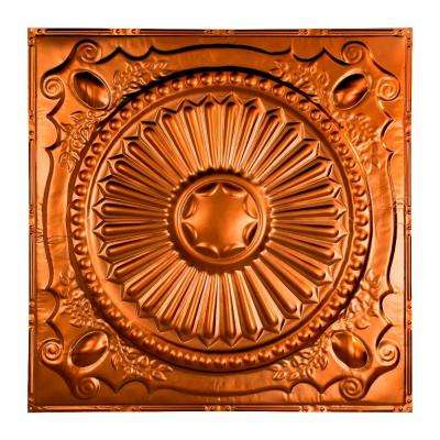 Toronto 2 ft. x 2 ft. Nail-up Tin Ceiling Tile in Copper