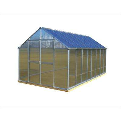 8 ft. x 16 ft. Aluminum Finish Greenhouse