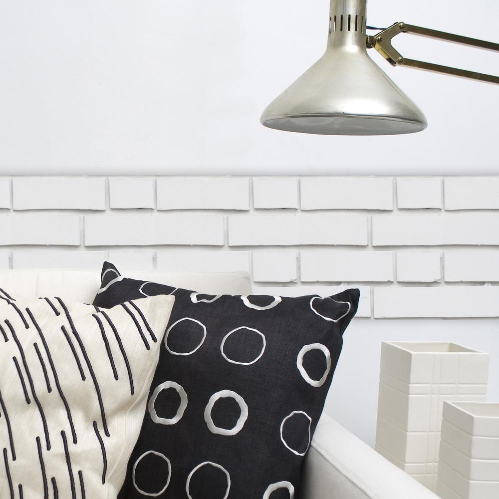 Brewster 18-1/5 in. x 36-2/5 in. White Bricks Peel and St...