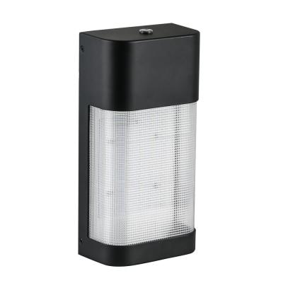 19-Watt Black Outdoor Integrated LED Classic Wall Pack Light with Dusk to Dawn Control