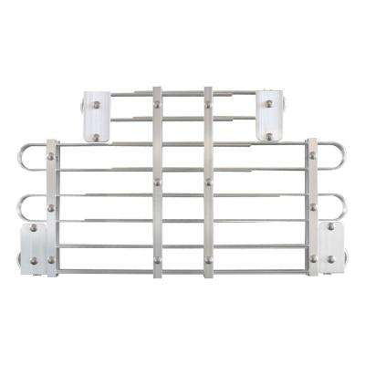 15 - 18 in. x 30 - 40 in. Adjustable Aluminum Window Well Grate
