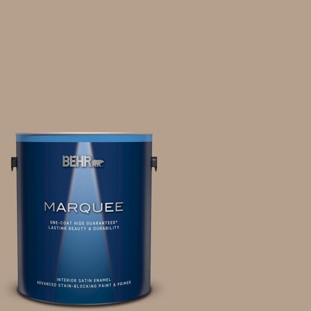 BEHR MARQUEE 1 gal. #MQ2-47 Midtown One-Coat Hide Satin Enamel Interior Paint and Primer in One