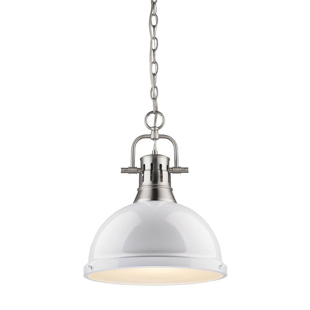 Dunan Collection 1-Light Pewter Pendant