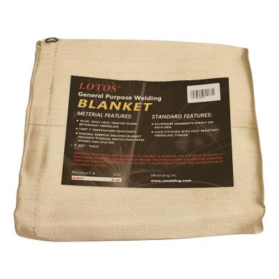 Welding Blanket 6 ft. x 8 ft. Gold Spatter Spark Safety Shield